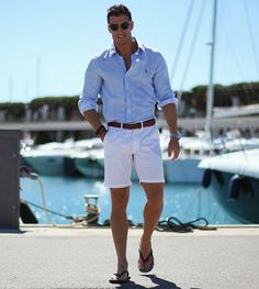 Summer outfits men, beach outfit for men, mens cruise outfits, preppy outfi Mode Shorts, Men In Shorts, Mens White Shorts, Summer Outfits Men, Men Summer Fashion, Men's Summer Clothes, Mens Cruise Outfits, Men Summer Style, Cruise Attire