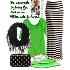 Black and Green, created by thelovegenre on Polyvore