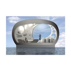 The Modern House Boat of the Future by Joanna Borek Clement by None, via Polyvore