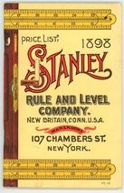 1898 Stanley Rule Co catalog reprint tools $22.00