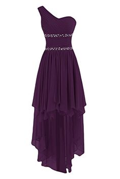 Sunvary One Shoulder High Low Chiffon Bridesmaid Dresses Homecoming Gowns for Juniors Prom Evening Dress US Size 20W- Grape Sunvary http://www.amazon.com/dp/B014XPFO8A/ref=cm_sw_r_pi_dp_z2Qiwb0P5SYD4