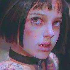 twelve year old Natalie Portman in 'The Professional' Foto Portrait, Portrait Art, Digital Portrait, Digital Art, Mathilda Lando, Photographie Portrait Inspiration, Portraits, Foto Art, Matilda