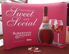 #sweetandsocial #robertsonwinery Wall Banner, Exhibition Display, Banner Printing, Banners, Pop, Bottle, Expo Stand, Popular, Pop Music