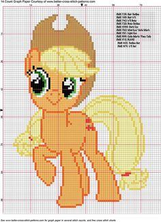 Apple Jack Cross Stitch Pattern by ~AgentLiri on deviantART My Little Pony Cross Stitch For Kids, Cross Stitch Charts, Cross Stitch Designs, Cross Stitch Patterns, Cross Stitching, Cross Stitch Embroidery, Embroidery Patterns, Little Poney, My Little Pony