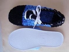 ADD SOLES TO CROCHET SLIPPERS OR SHOES, how to diy, add slipper soles - YouTube