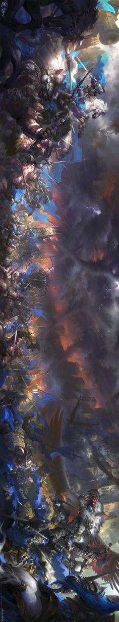 ArtStation - Warcraft movie poster.魔兽电影海报, Wei Feng