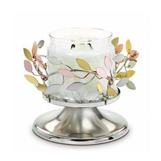 Shimmering Leaves Pedestal Jar Holder - Now £18.75!
