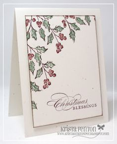 Krista's Stamp Spot: Clean and Simple Watercolor Winter