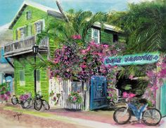 Key West Limited Edition Fine Art Giclee Painting by vannoriginals, $50.00