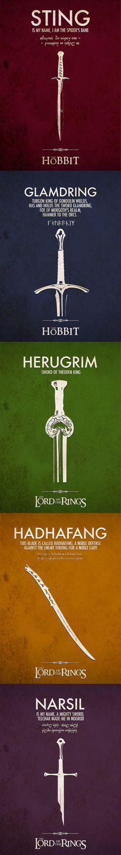 Middle-Earth Swords ~ Hobbit/Lord of the Rings Legolas, Gandalf, Aragorn, Thranduil, Jrr Tolkien, Tolkien Books, The Middle, Middle Earth, Narnia