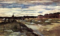 Bleaching Ground, The Hague - Vincent van Gogh , 1882 Dutch, 1853-1890 Wash, watercolor on paper