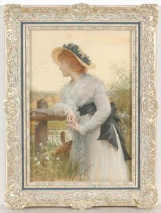 Sir Luke Fildes ~ Pre-raphaelite watercolor previously sold by IM Therefore Fine Art & Manuscripts Pre Raphaelite, Art Pages, Uk Today, Watercolor, Fine Art, History, Antiques, Painting, Things To Sell