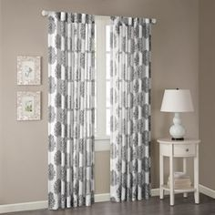 Addison Anthro Burn Out Sheer Curtain
