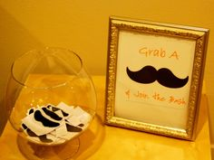 Mustache Party entry sign