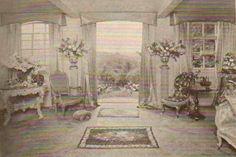 Cecil Beaton interior sitting room Ashcombe