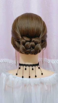 Hairdo For Long Hair, Bun Hairstyles For Long Hair, Braided Hairstyles Tutorials, Girl Hairstyles, Wedding Hairstyles, Hairstyle Braid, Beautiful Hairstyles, Party Hairstyles, Easy Teen Hairstyles