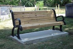 The Vintage Parisian Series- #recycled plastic #bench that has a gorgeous old feel to it.