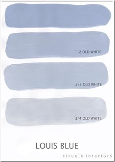 Photos of all the extended Annie Sloan Chalk Paint colors created when you mix them with different percentages of Old White