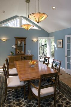 dining room colors that match an open blue living room - Google Search