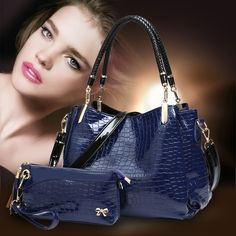 Women's Handbag Top Handle bags Lash Crocodile Skin Crozzling Casual Totes Shoulder Bags Messenger Bags women bag Fashion hot