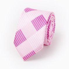 Slim Tie Plaid & Striped Cotton