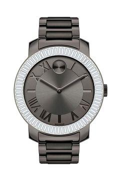 Movado 'Bold' Crystal Bezel Bracelet Watch, 39mm available at #Nordstrom