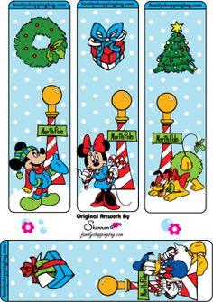 Mickey Christmas printable Bookmarks