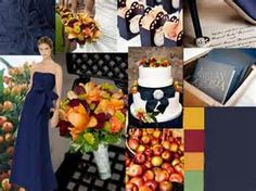 Fall wedding decor I kind of like this color pallet