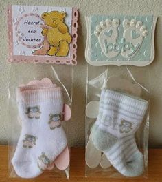 Creaties met Papicolor papier: Babysokjes Labels, Bag Toppers, Handmade Crafts, Christmas Stockings, Baby Shower Gifts, Marc Jacobs, Stampin Up, Boxes, Wraps