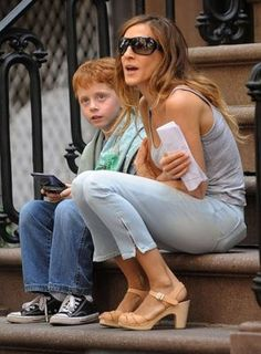 Sarah Jessica Parker and Her Swedish Hasbeens - pep toe in sky high natural (loves these)