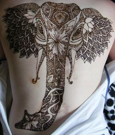 Henna Elephant - wow Loved and Pinned by www.downdogboutique.com to our Yoga community boards