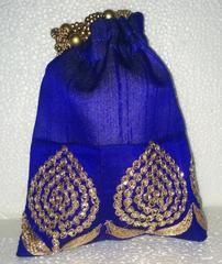 Ink Blue colour  Designer Clutches : Navishka Collection -  YF-43124