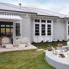 Tired of the same old facade? Transform your boring brick home into a slice of Hampton's paradise! Click the link in our bio for more. #exterior #exteriordesign #hamptonstyle #renovations #homeimprovement