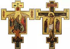 "Foto: ""Anastasis"" & ""Crucifixion"" - by Malin Dimov Religious Images, Religious Icons, Religious Art, Byzantine Icons, Holy Cross, Holy Week, I Icon, Orthodox Icons, Christian Art"