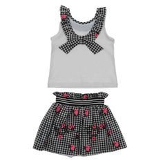 Give your girl a sweet look with the girls' black and white floral dress! This two-piece dress is a perfect pick for your little angel's casual wear collection. Summer Outfits, Girl Outfits, White Floral Dress, Made Clothing, Two Piece Dress, Your Girl, Casual Wear, Black Tops, Latest Trends