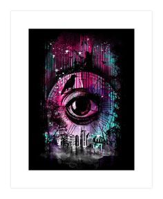 The eye of time Art Print