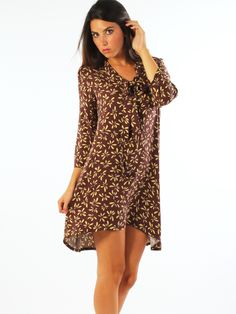 Short patterned muslin casual dress. Key-di http://www.luanaromizi.com/en/dresses-woman/short-patterned-muslin-casual-dress-a.html #Short #patterned #muslin #casual #dress #keydi #madeinitaly #luanaromizi