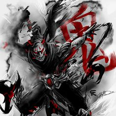 Oni Genji by gscratcher on Deviantart | Promotional Overwatch hero skin from the Nexus Challenge on Heroes of the Storm