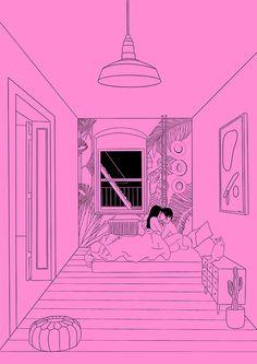 Erotic illustrations by Alicia Rihko. Sexy Drawings, Art Drawings Sketches, Art Pop, Romance Art, Stoner Art, Cute Couple Art, Love Illustration, Aesthetic Art, Erotic Art