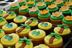 A Little Luau Hawaiian Luau Cupcakes | A Little Something Sweet - Custom Cakes