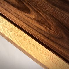 Love the contrast in color and grain. Our walnut and oak coffee table. #blackhallwoodworks #midcenturymodern #midcentury  #midmod #midmodern #oakfurniture #midcenturyfurniture #design #wooddesign #woodworking #homestaging #interiordesign