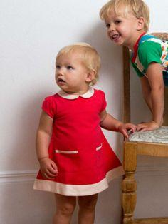 3 little pebbles | Kids & moms fashion: Rood tuniekjurkje - Jurken