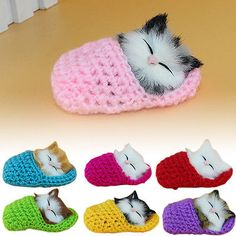 Christmas XMAS Gift Kids Girls Boys Plush Toy Sleeping Cat Sound Animal Toy Doll