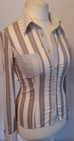 Karen Millen beautiful striped blouse size us 8 uk 12 #KarenMillen #Blouse #Casual