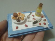DIY fake food - miniature sweets 🍪 honey 🍯 and strawberry 🍓 - on commission