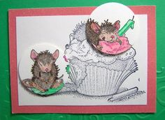 A Cupcake Celebration  Country Mouse by ForgetMeNotMemories, $3.50