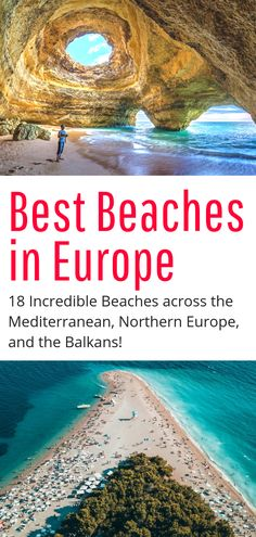 Best Beaches in Europe – 18 of the best beaches in the Mediterranean, Northern E… Beste Strände in Europa – Backpacking Europe, Europe Travel Tips, European Travel, Places To Travel, Places To Visit, Europe Europe, Travel Goals, Summer In Europe, Travel Articles