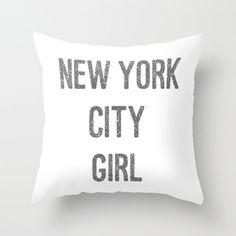 Velveteen Pillow - New York City Girl - New York City Decor - Girls Room Decor - Teen Room Decor - Gifts for Her - Cushion Cover - Cushion