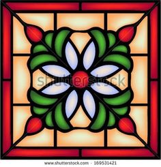Gothic ornament with decorative berry and flower, traditional church decor, seamless pattern,vector Stained Glass Quilt, Faux Stained Glass, Stained Glass Panels, Stained Glass Projects, Stained Glass Patterns, Easy Mosaic, Stained Glass Christmas, Glass Pumpkins, Glass Design