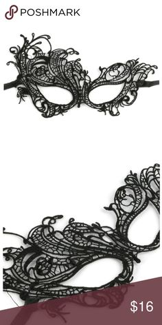 Feminine Crochet Lace Masquerade Mask Feminine Crochet Lace Masquerade Mask. This is the perfect mask for a quick easy DIY Halloween costume or an addition to one. Look Mysterious and ready for any masquerade ball or party. Features a ribbon to tie on your face to keep it secure at your personal comfort level. Happy Organics Boutique Accessories